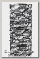 Бандана Buff High UV shark camo grey
