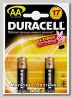 Батарейка Duracell LR6 AA уп.2шт