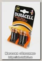 Батарейка Duracell LR6 AA уп.4шт