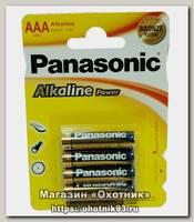 Батарейка Panasonic Alkaline LR03 AAA 1.5B уп.4шт