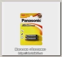 Батарейка Panasonic щелочная LR03 AAA Alkaline 1.5B уп.2шт