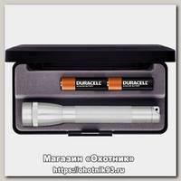 Фонарь Maglite М2А 10 LЕ подарочная упаковка серебро