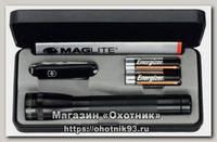 Фонарь Maglite Mini mag с ножом черный подарочная упаковка