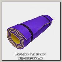 Коврик Isolon Camping 12 туристический двухслойный фиолетовый/желтый
