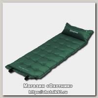 Коврик King Camp Base Comfort самонадувающий зелёный 196х63х5