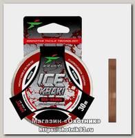 Леска Intech FC Shock Khaki red-brown 30м 0.10мм 0,92кг