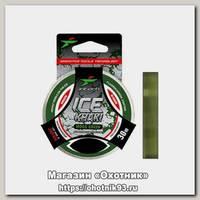 Леска Intech Ice Khaki moss green 30м 0.165мм 2.3kg