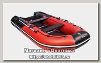 Лодка Мастер лодок Ривьера Компакт 3400 СК комби красно-черная
