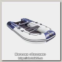 Лодка Мастер лодок Ривьера Компакт 3400 СК комби серо-синяя