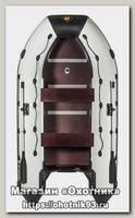 Лодка Мастер лодок Ривьера Компакт 3600 СК комби черно-серая