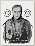 Мишень Вооруженный бандит 520х750мм