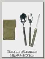 Набор столовых приборов Mil-tec 3-Tlg oliv