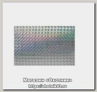 Наклейка Akara голографическая тип 2 8х12 см белая