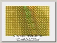 Наклейка Akara голографическая тип 2 8х12 см желтая