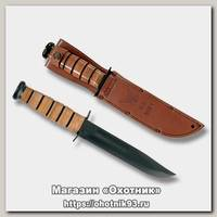 Нож Ka-Bar 1225 Us Navy сталь 1095 рукоять кожа
