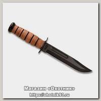 Нож Ka-Bar 5017 USMC сталь 1095 рукоять кожа