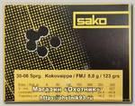 Патрон 30-06Sprg Sako 8,0 Range FMJ