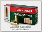Патрон 9х19Luger Sellier&Bellot Luger FMJ 8г 1/50