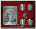Подарочный набор Сима Ленд Медведь фляжка 4 стопки + воронка