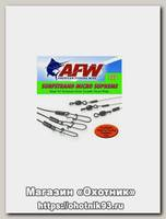Поводок оснащенный AFW Surfstrand micro supreme camo 15см 12кг