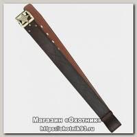Ремень ХСН Звезда 50мм №1 поясной коричневый