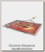 Решетка гриль Метиз для мяса нерж 420*250