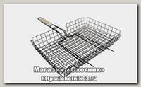 Решетка Хозлидер для барбекю глубокая средняя 360х285х60мм