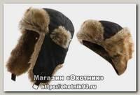 Шапка Alaskan с меховой отделкой черная