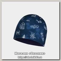Шапка Buff Micro&Polar hat child funny camp navy