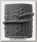 Шарф Buff Knitted neckwarmer comfort darla grey pewter