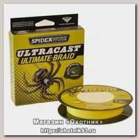 Шнур Spiderwire 8 carrier ultracast yellow 110м 0,17мм