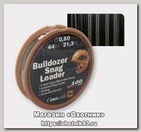 Шоклидер Prologic Bulldozer snag leader 100м 24lbs 11,0кг 0,40мм сamo