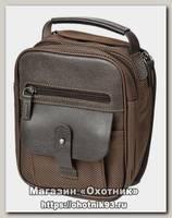 Сумка Стич Профи наплечная для переноски пистолета №1 ткань коричневая