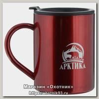 Термокружка Арктика с крышкой 400мл красная