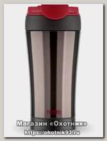 Термокружка Thermos JND BK 0,4л черный с красной крышкой