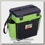 Ящик зимний Helios Fish box 19л зеленый